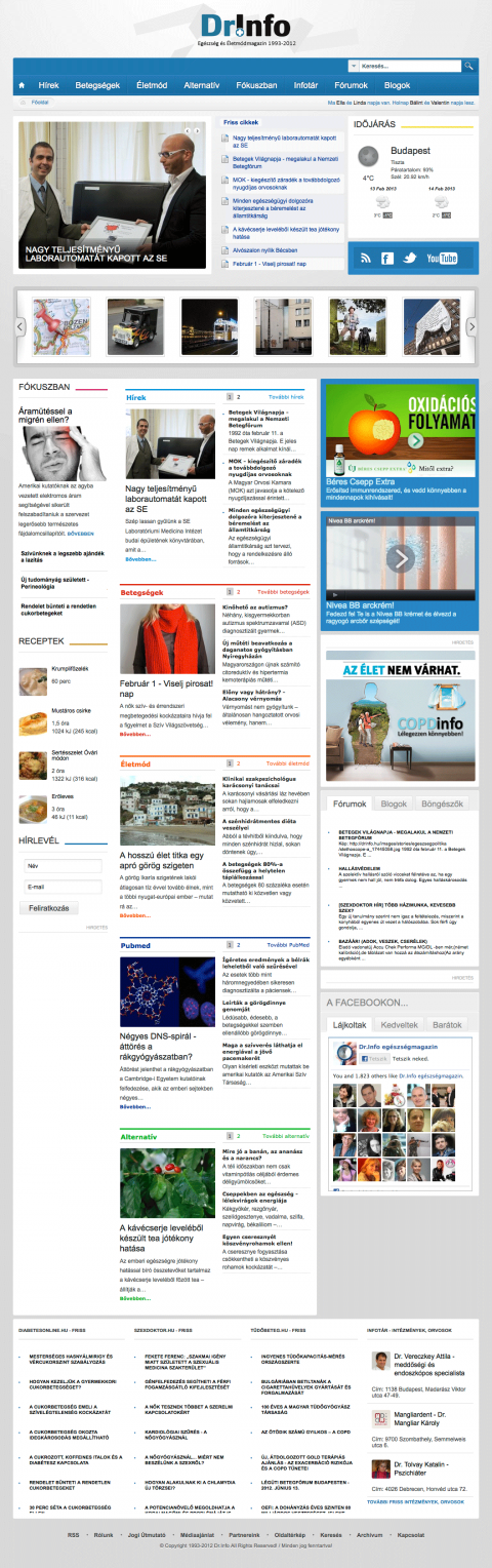 Dr.Info egészségügyi magazin